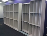 sliding storage system for copy center