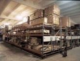 military warehouse storage mobilized pallet racking
