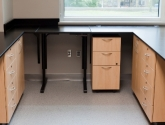 drawers and cabinetry built in with laboratory casework