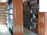 Library Shelving with Wood Trim End Panels