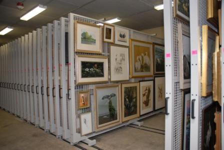 Mobile Art Racks Artstor Pullout Panels Artwork Storage