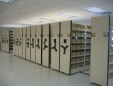 automatic mobile shelving with aisle lock