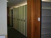 high density mobile shelving for files
