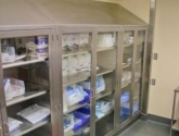 Sloped Top Healthcare Storage Casework for Hospitals