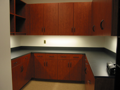 modular millwork cabinets | laminate and powder coat workstations