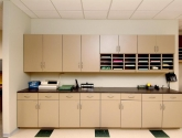 Modular Millwork Cabinets for Copy Print Fax Areas of Office Mail Room