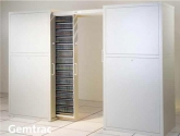 Multimedia Cabinets on Tracks for Magnetic Media Microform Storage