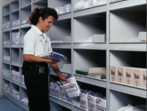 Open Shelving for Police Department Storage