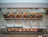 Static Cantilever Library Shelving with Acrylic Top and End Panels