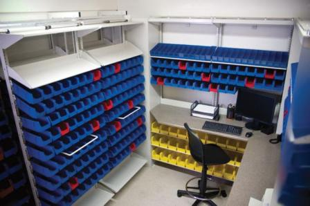 Medical Pharmacy Plastic Bin Storage System Shelves & Plastic Bin Storage System | WrxStor Bin Shelving