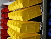 Adjustable Plastic Bin Storage System for Supplies