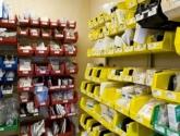 Plastic Bin Storage System Medical Supply Storage