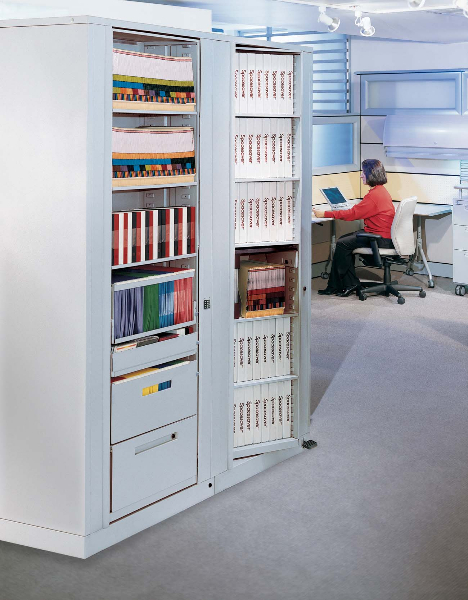 Rotary Book and Binder Storage for Office Filing & Rotary File Cabinets | RotaryStor High Capacity Storage