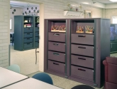Rotary Storage Cabinet with Drawers