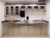 Stainless Steel Cabinets and Countertop