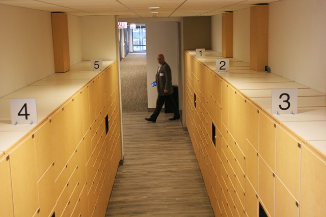 Corporate Self Service Lockers for Package Pickup