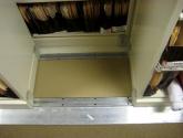 bi file tracks for sliding shelving units