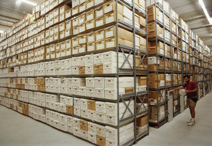 Box Shelving Static Racks For Record File Boxes