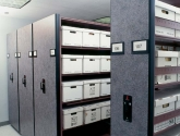 powered shelving file box storage