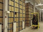 record storage warehouse high density mobile racks