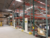 industrial warehouse compact pallet racks