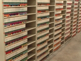 Open Shelving with Color Coded File Conversion