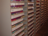 Color Coded File Conversion Shelving AIsle