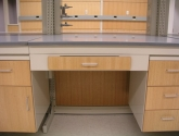 laboratory casework with modular drawers and cabinet doors