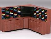 Mailroom Furniture Sorter in Brown