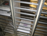 Clear Shelves in a Mailroom Furniture Sorter for better Visibility