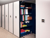 eclipse powered mobile shelving for book and binder storage