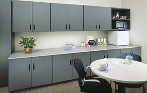 Modular Millwork Cabinets For Breakroom Storage And Cabinetry