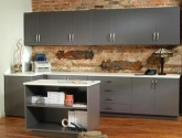 Modular Millwork Cabinets, Drawers and Countertops in Breakroom