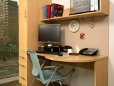 Modular Millwork Cabinets Healthcare Office Storage and Desk
