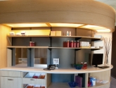 Curved Modular Millwork Cabinets for Healthcare Storage