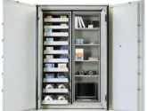 Multimedia Cabinets Storage with Shelves and Doors