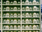 Football Helmet Shelving for Athletic Department Storage