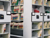 Healthcare Files Storage on Open Mobile Shelving