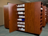 Pharmacy Casework Cabinets with Shelves and Security Doors