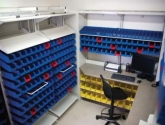 Medical Pharmacy Plastic Bin Storage System Shelves