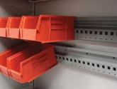 Plastic Bin Storage System Rails