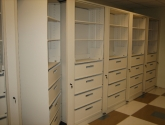 Rotary Cabinet with Drawer and Shelf Storage