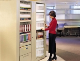 Rotary Storage Cabinet for Binder and File Storage