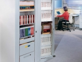 Rotary Book and Binder Storage for Office Filing