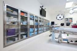 Operating Room with clean Stainless Steel Casework