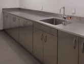 Stainless Steel Cabinets and Countertop with Sink